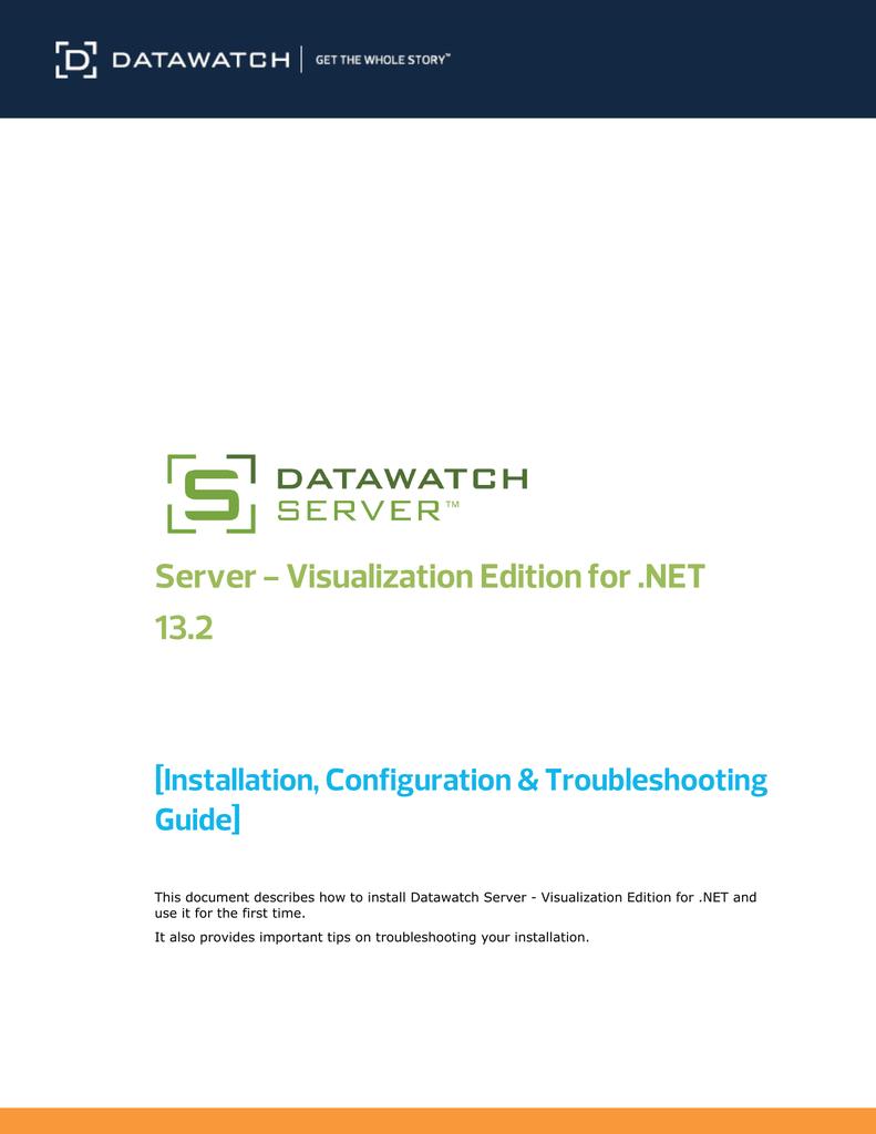 Datawatch Server - Product Documentation   manualzz com