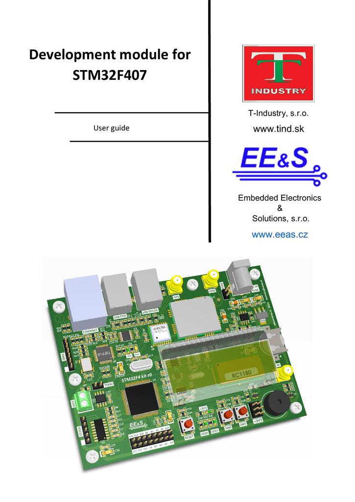 Development module for STM32F407 | manualzz.com on