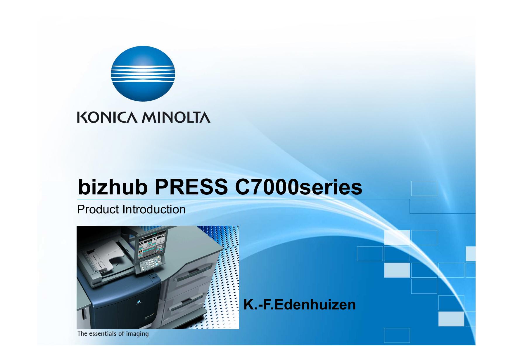 Bizhub Press C7000series Manualzz
