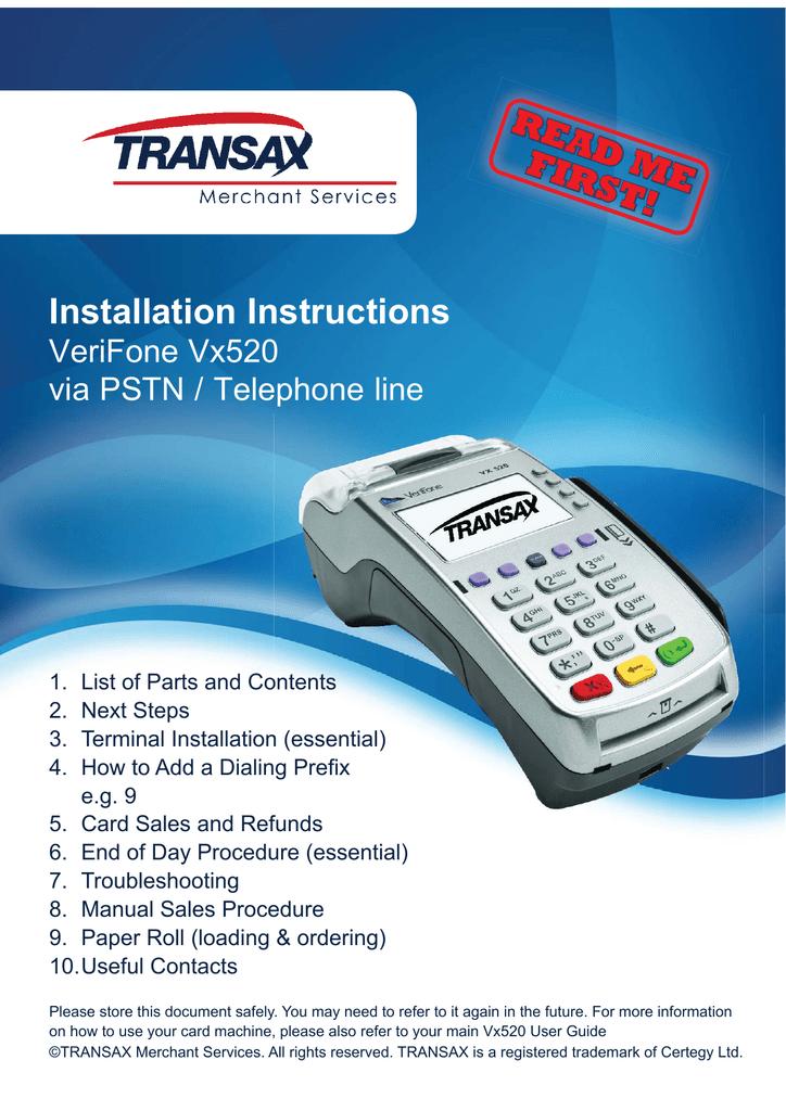 Vx6 PSTN Read Me First Installation Guide Manualzz