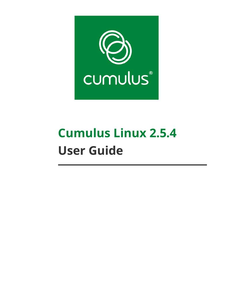 Cumulus Linux 2 5 4 User Guide