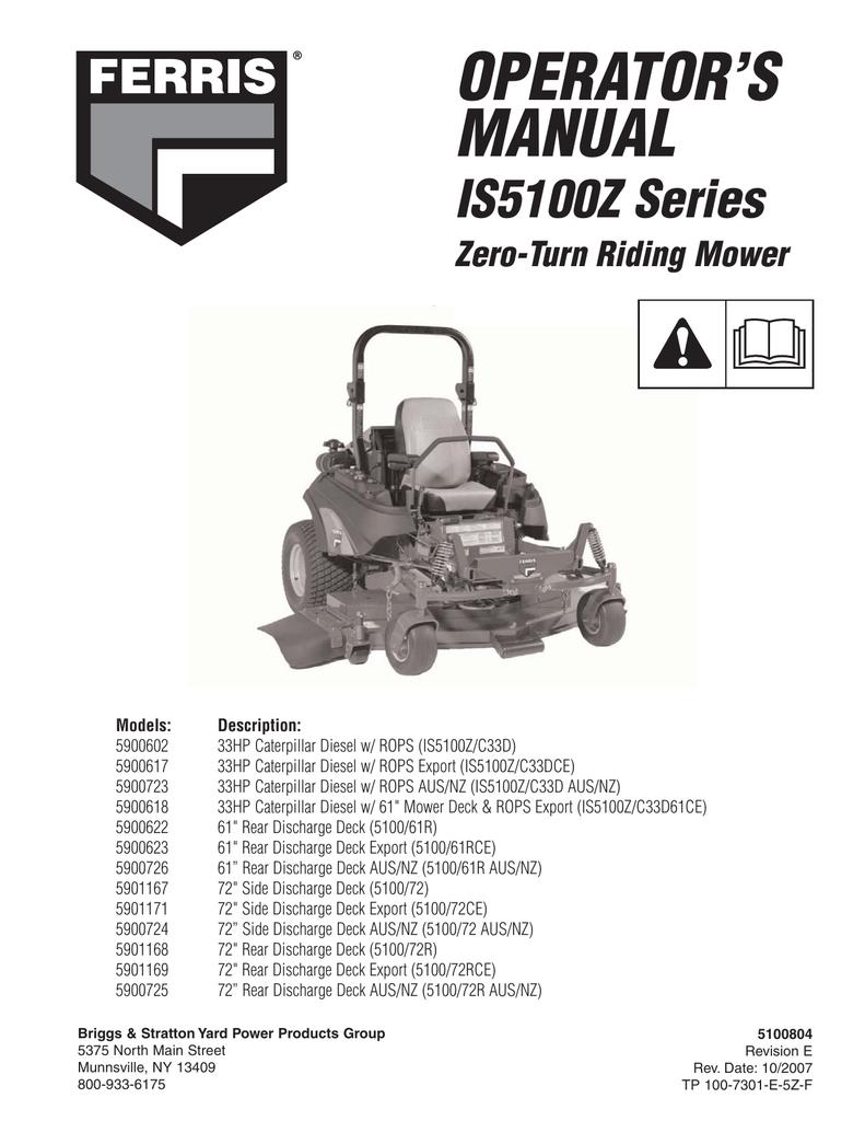 Ferris is3000 repair manual