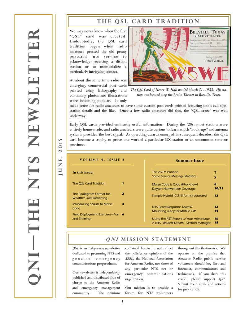 QNI-The NTS Newsletter | manualzz com