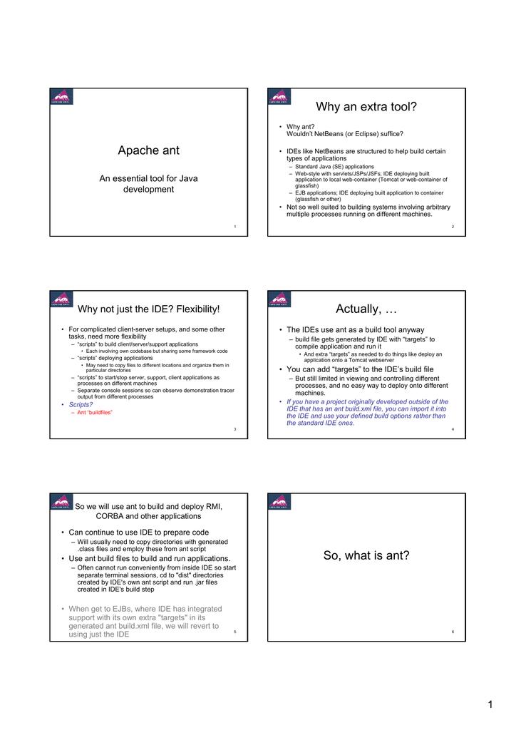 Apache ant build tool | manualzz com