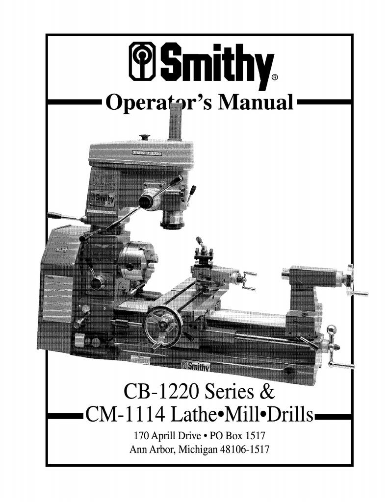 Manual Smithy Midas 1220 Home Machine Manualzz