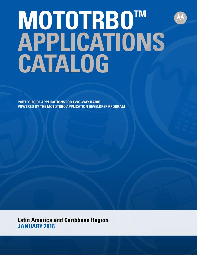 MOTOTRBO Applications Catalog | manualzz com