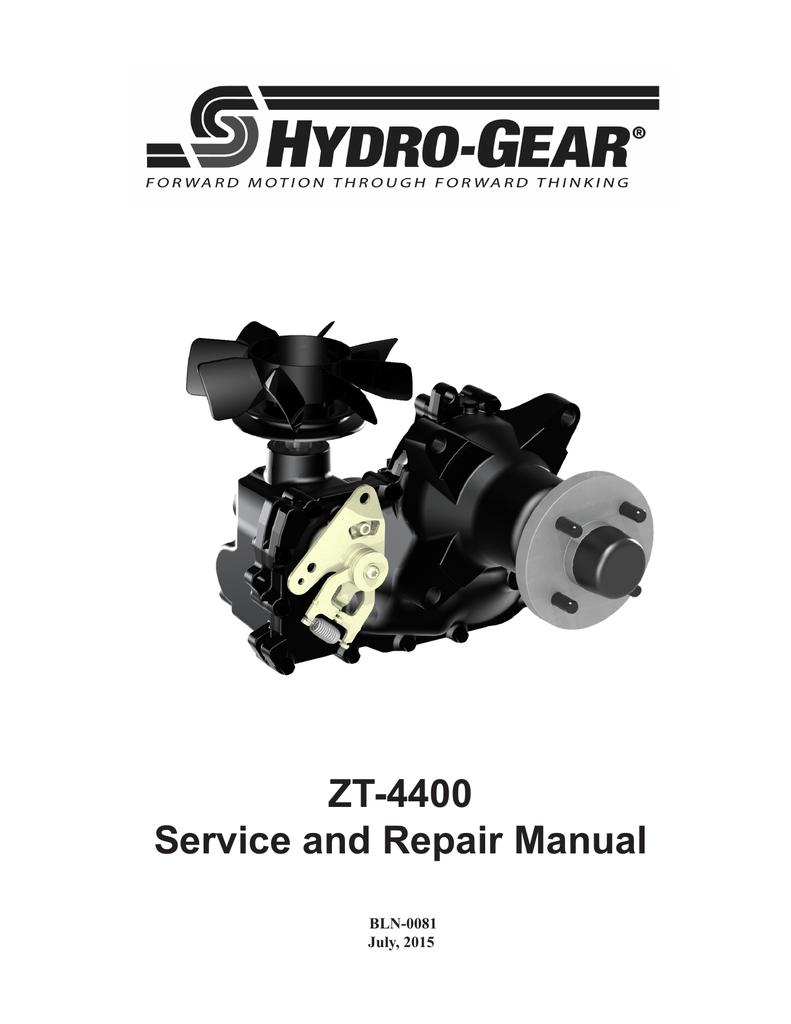 ZT-4400 Service and Repair Manual - Hydro-Gear | manualzz com