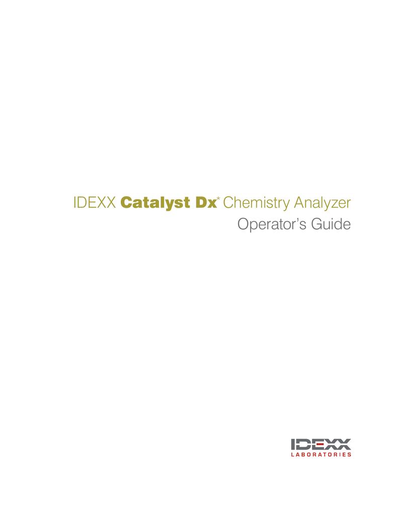 Operator`s Guide - Idexx Laboratories, Inc  | manualzz com