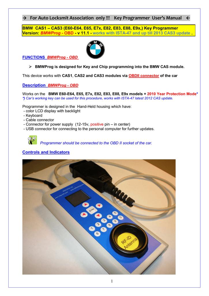 EDILOCK BMW Key Programmer | manualzz com