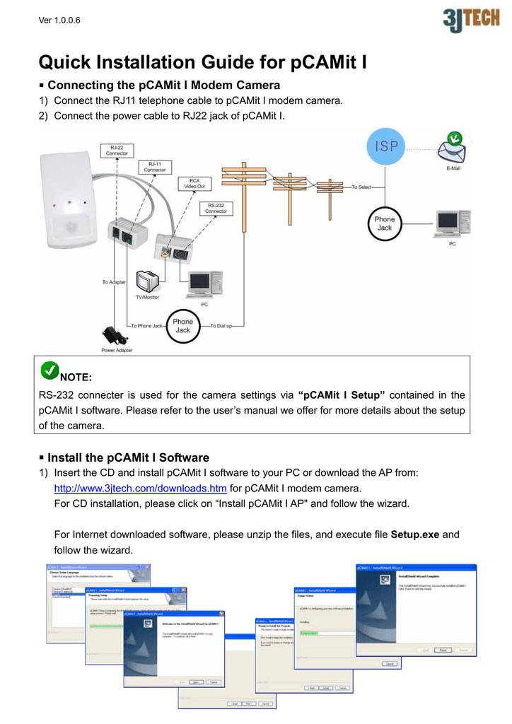 Quick Installation Guide for pCAMit I | manualzz com