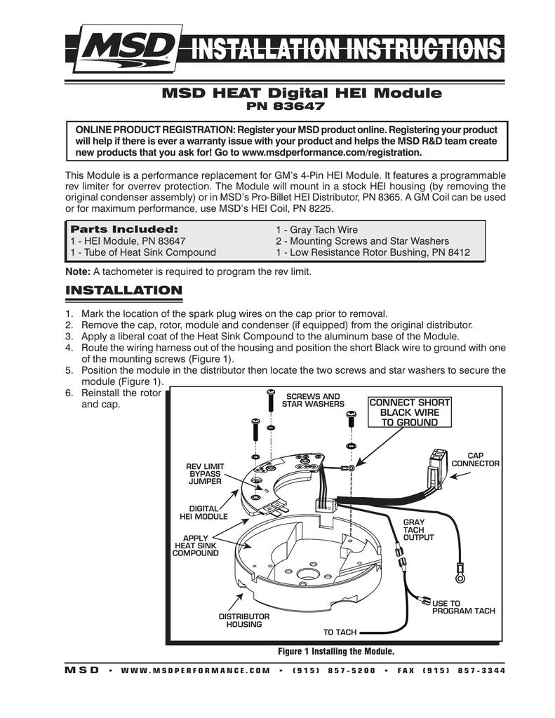 MSD 8412 Low Resistance Bushing for HEI Distributor