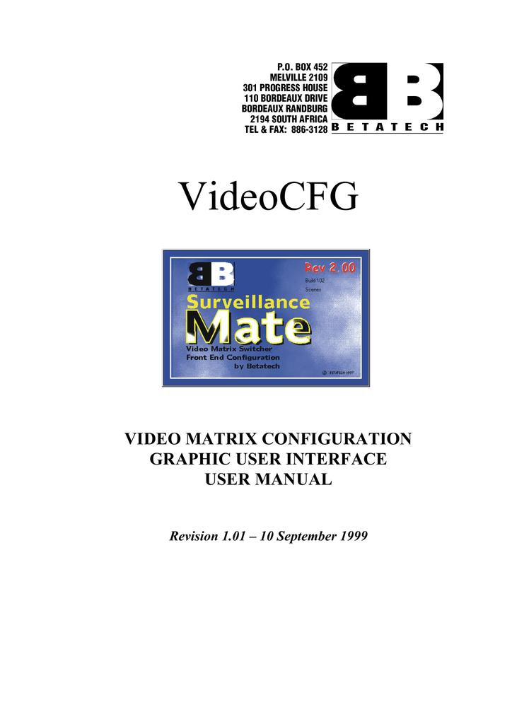 VIDEO_CFG_OLD_UM.pdf | Manualzz