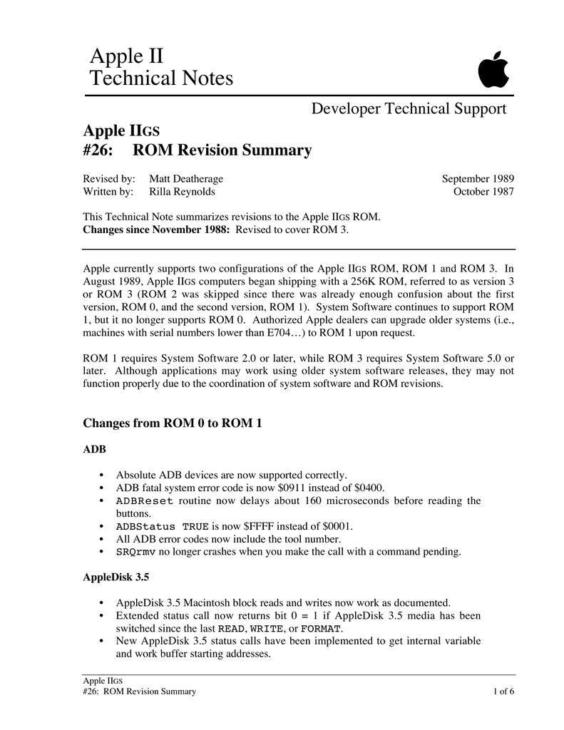 Apple IIGS Technical Notes 26-35 | manualzz com