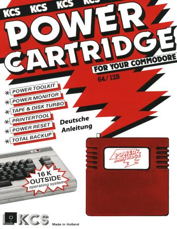 Power Cartridge KCS Instruction Manual german.pdf | Manualzz
