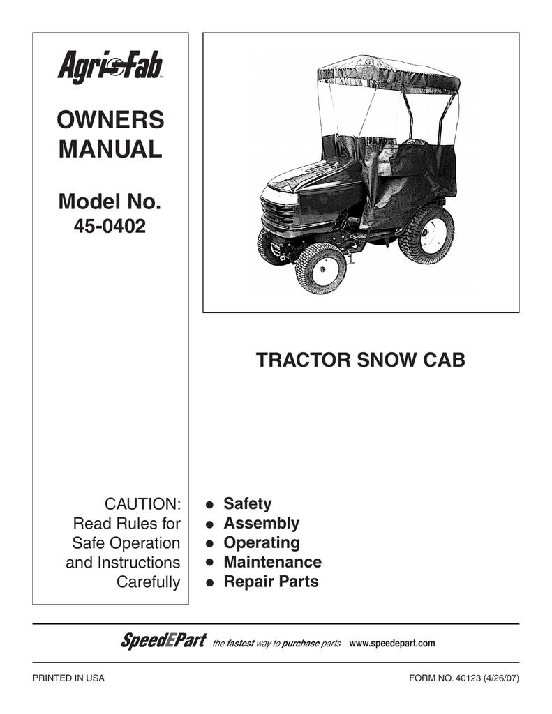 736030 Owners-Snow Cab.pdf | Manualzz