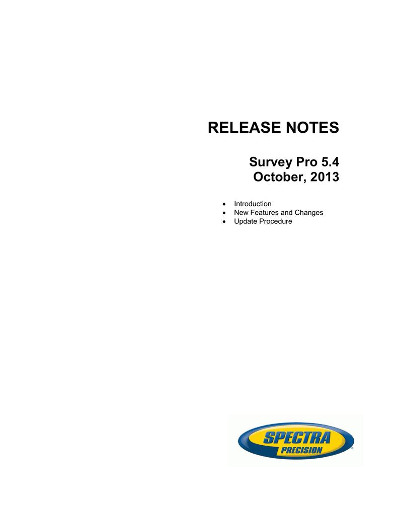 Release Notes - Survey Pro v5 4 - English pdf   manualzz com