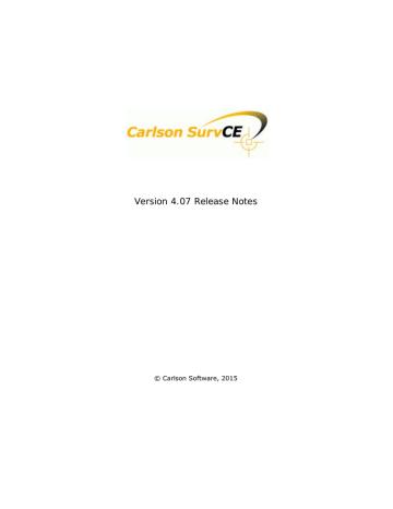 SurvCE 4.07 Release Notes.pdf | Manualzz