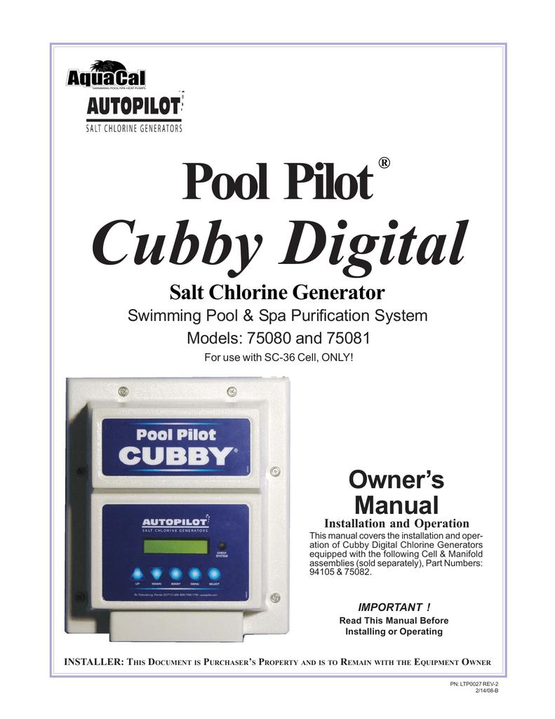 Pool pilot cubby digital pool pilot cubby digital user manual pool pilot cubby digital pool pilot cubby digital user manual french nvjuhfo Gallery