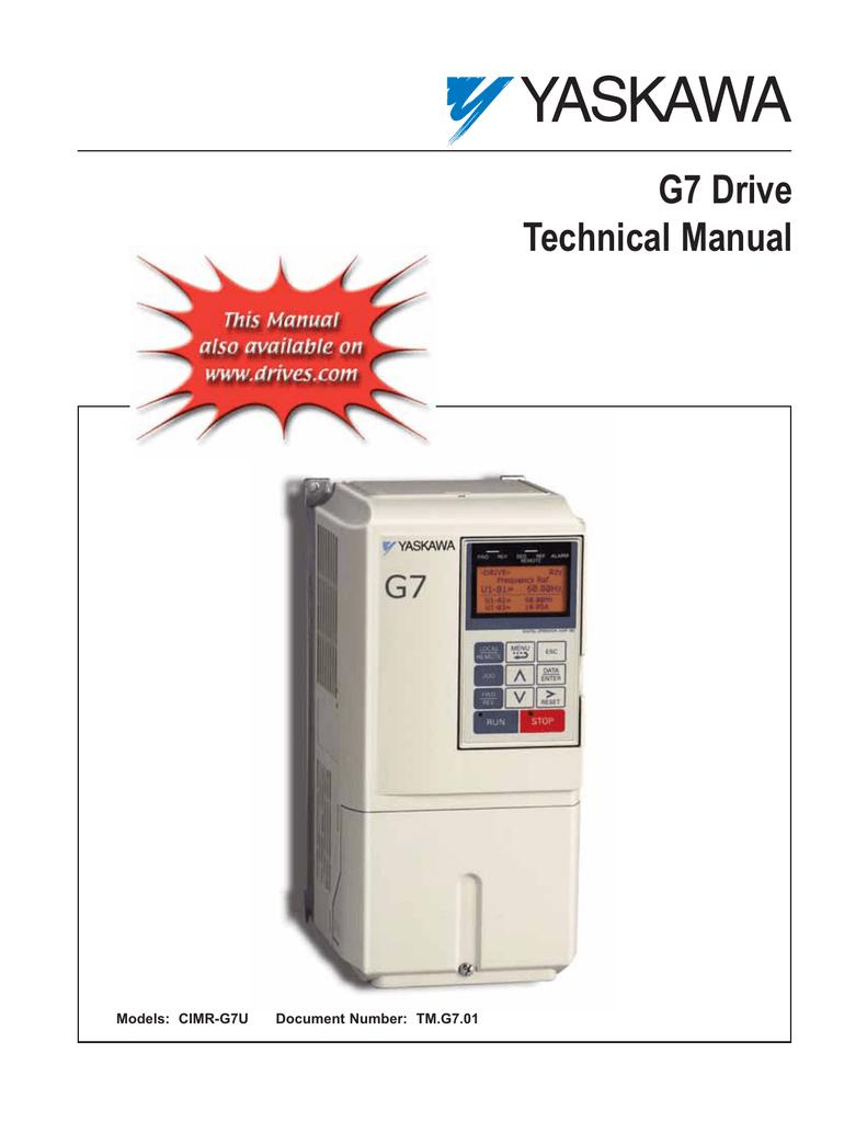 Bien tan Yaskawa dong G7 - Manual.pdf | Manualzz