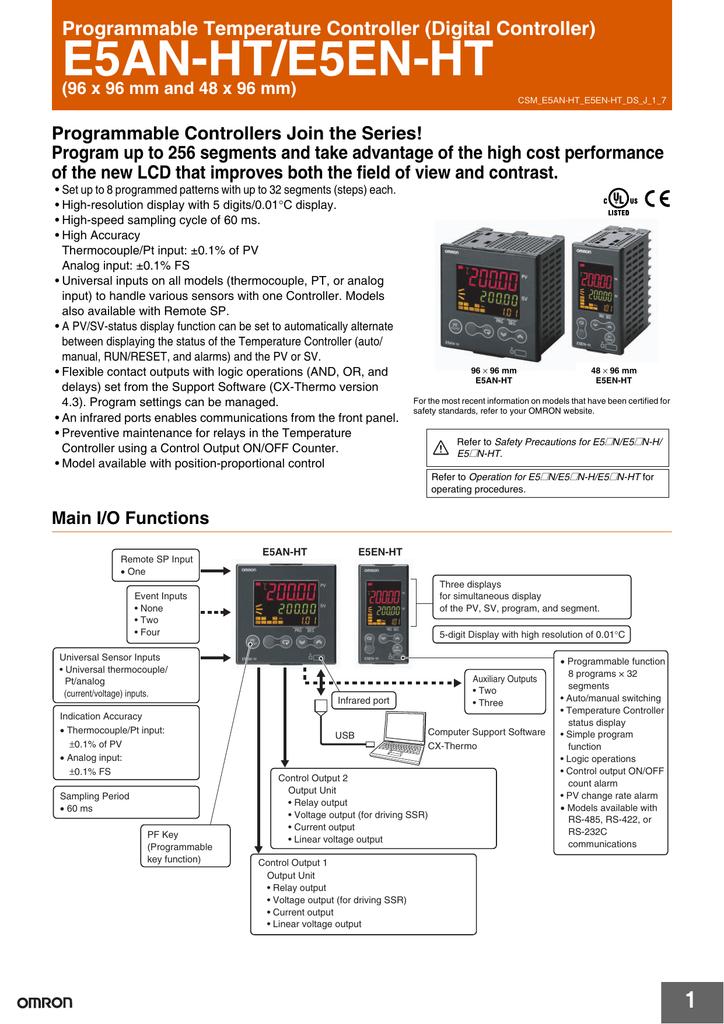 Bo dieu khien nhiet do Omron dong E5EN-HT-datasheet.pdf | Manualzz