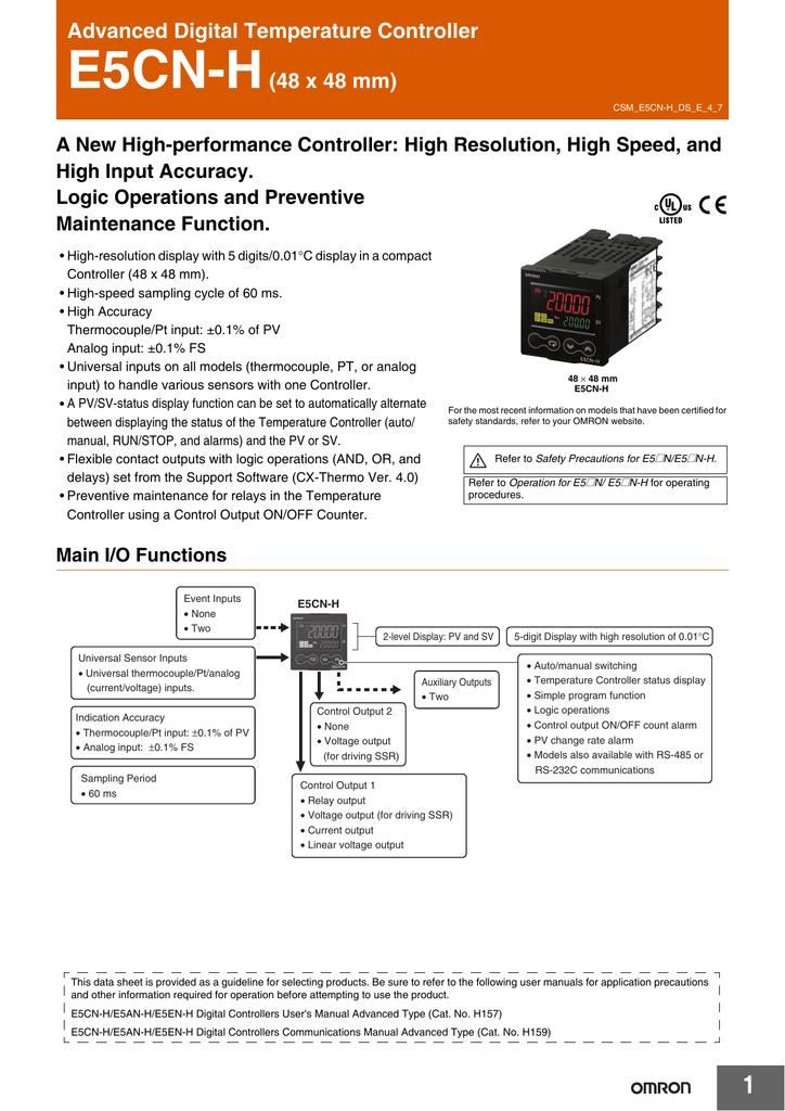 Dieu khien nhiet do E5CN-H _ datasheet.pdf | Manualzz