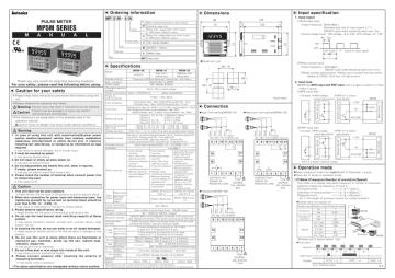Dong ho do xung Autonics dong MP5M - manual.pdf   Manualzz