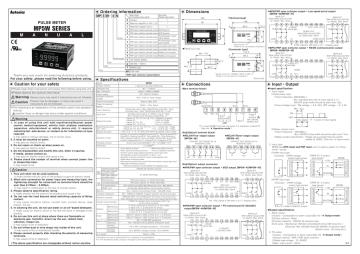 Dong ho do xung Autonics dong MP5W - manual.pdf | Manualzz