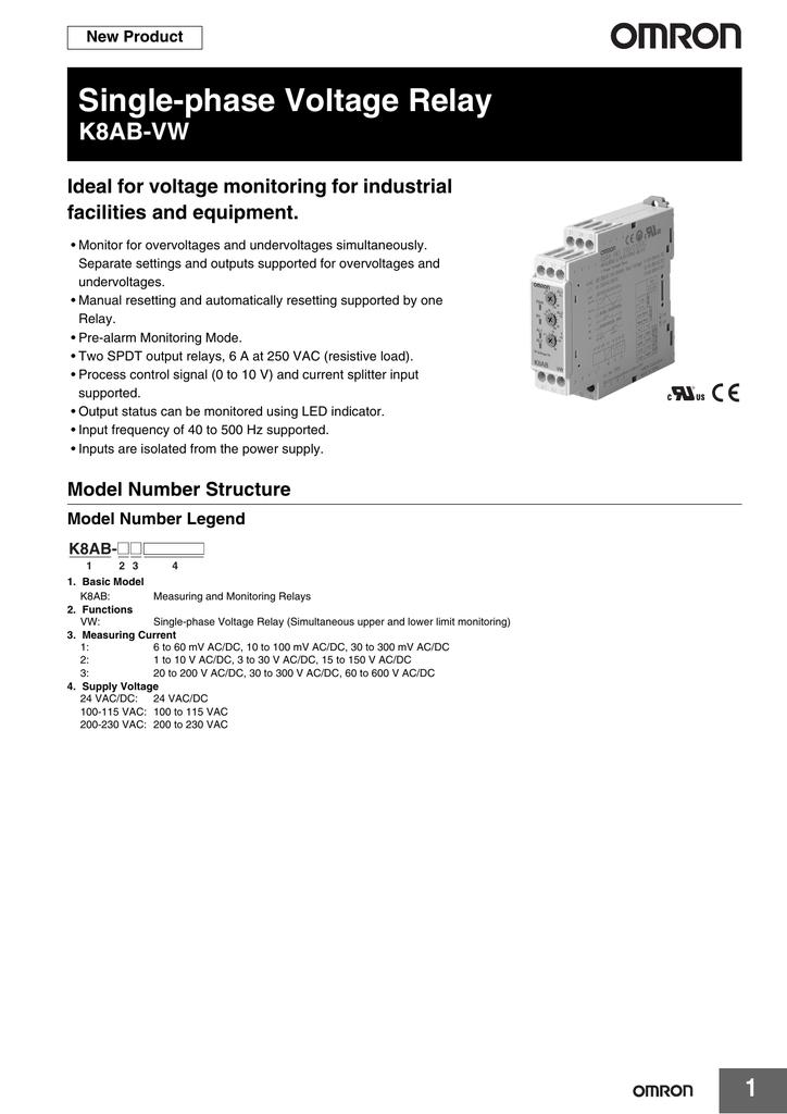 Ro le bao ve dien ap Omron dong K8AB-VW_Datasheet.pdf   Manualzz