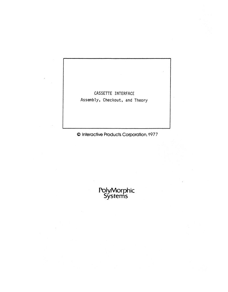Cassette_Interface_1977.pdf | Manualzz