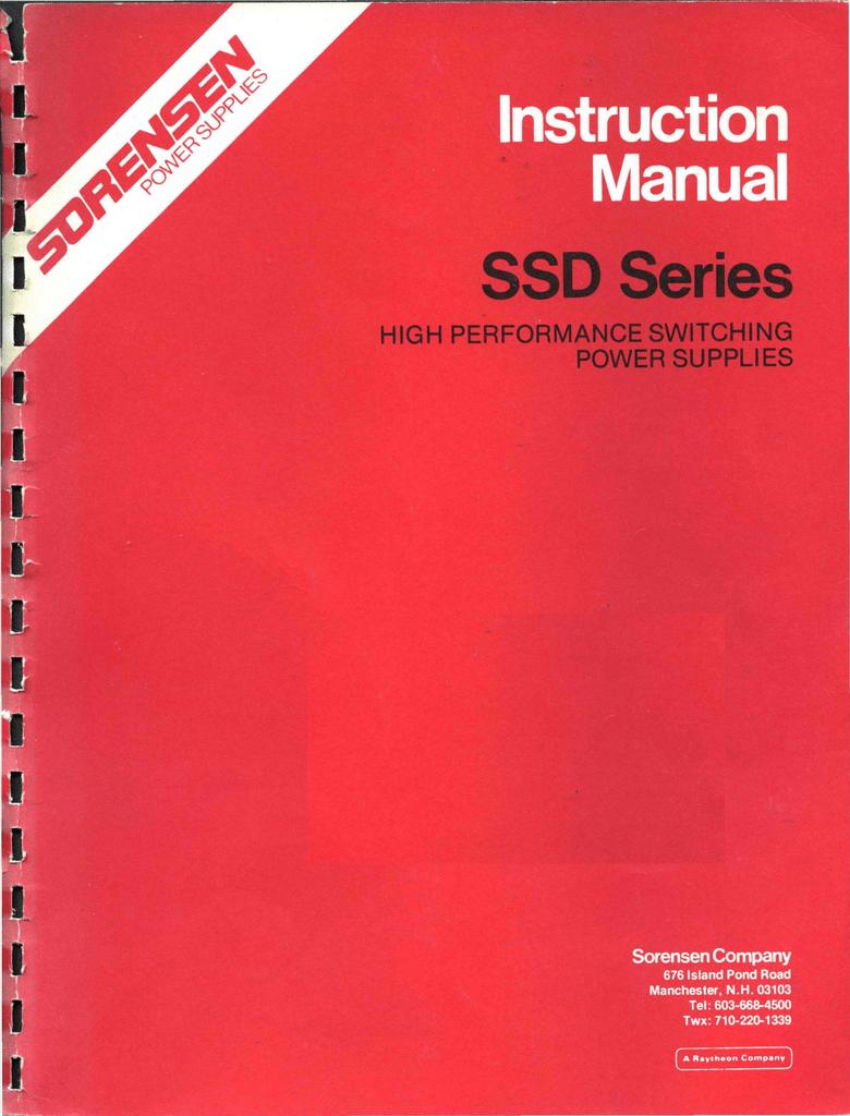 Sorensen_SSD_Series_III_IIIA_Nov77.pdf | Manualzz