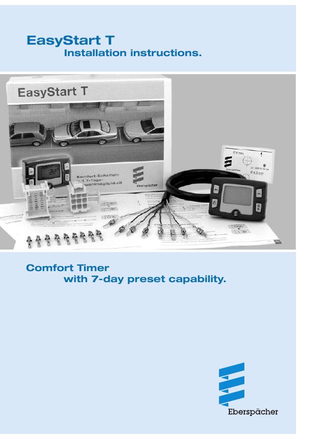 Eberspacher EasyStart T Installation | manualzz com