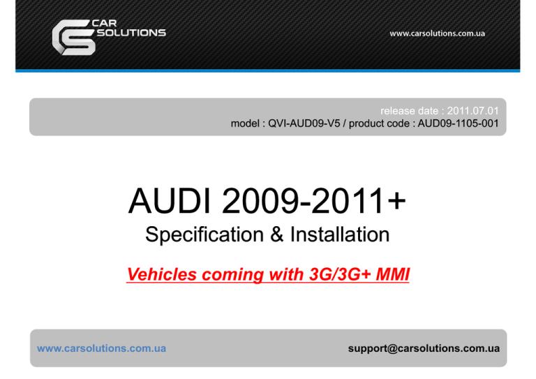 Audi Mmi 3g Car Interface V
