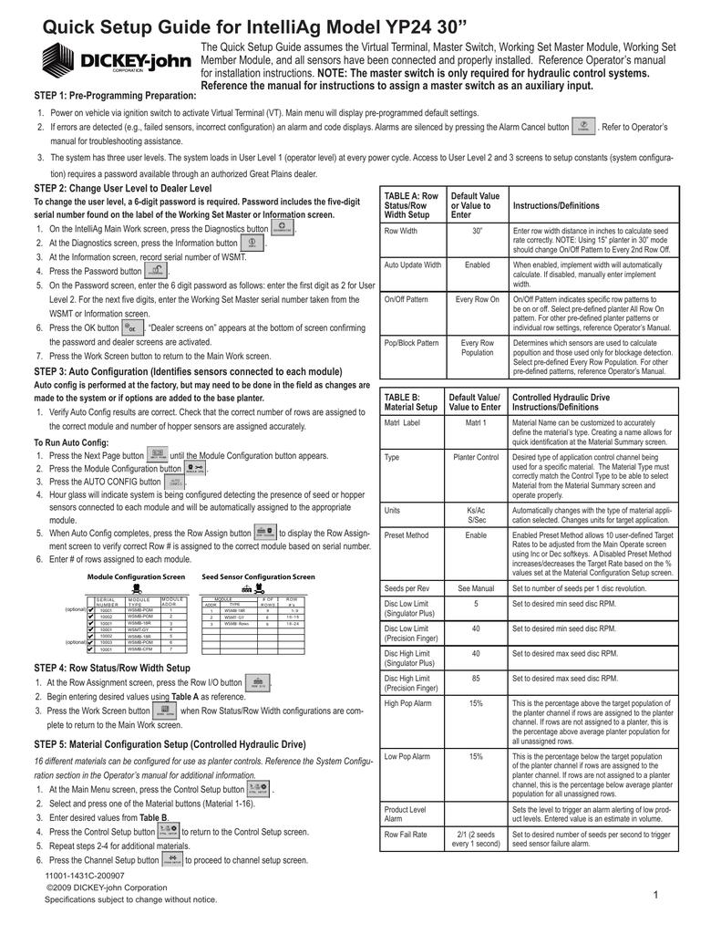 YP2425-2430 24 Row 30 Inch: English: 11001-1431C.pdf | Manualzz