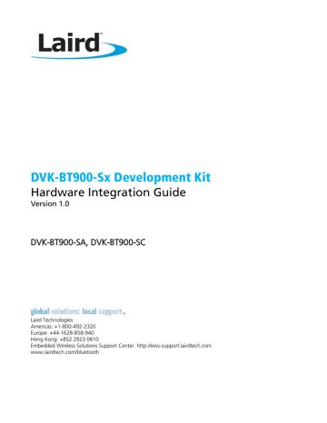 Hardware Integration Guide - BT900 Development Kit.pdf   Manualzz