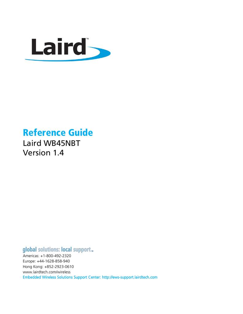 Reference Manual - Laird WB45NBT.pdf   Manualzz