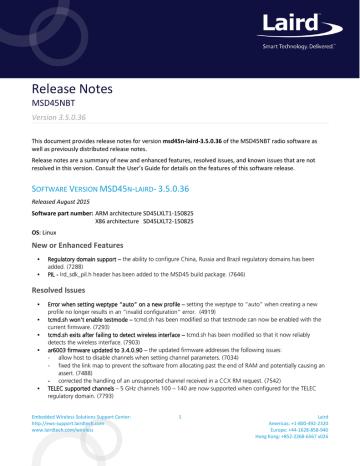 Release Notes - MSD45N Firmware v3.5.0.36.pdf   Manualzz