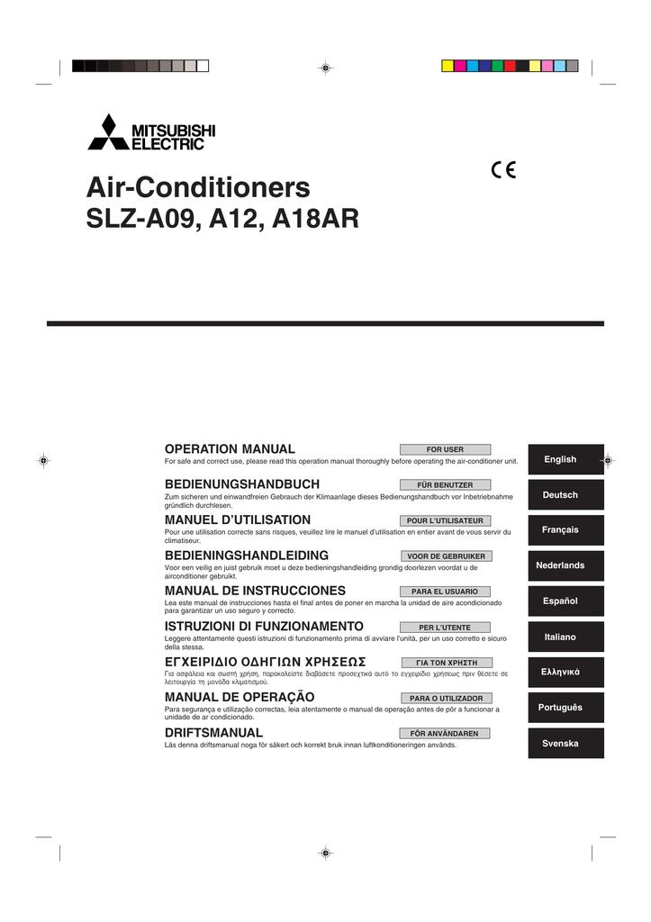 SLZ-A09-18AR Operation Manual.pdf | Manualzz