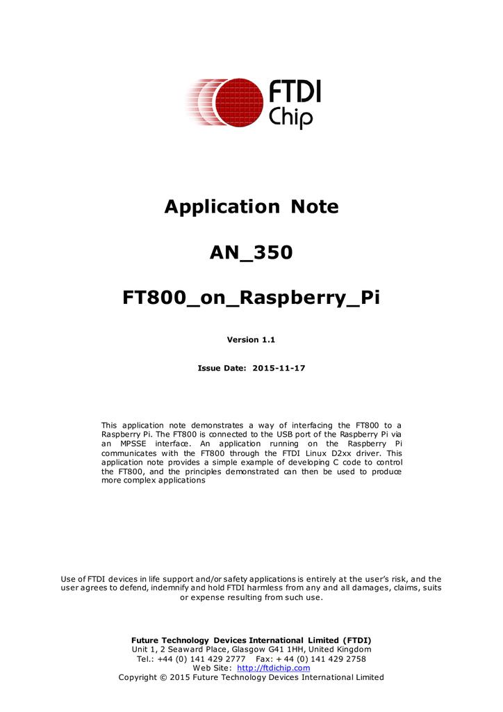 AN_350_FT800 On Raspberry Pi | manualzz com
