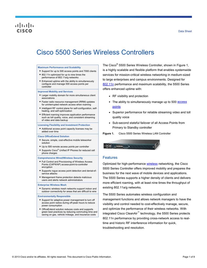 Cisco 5500 Series Wireless Controllers | manualzz com