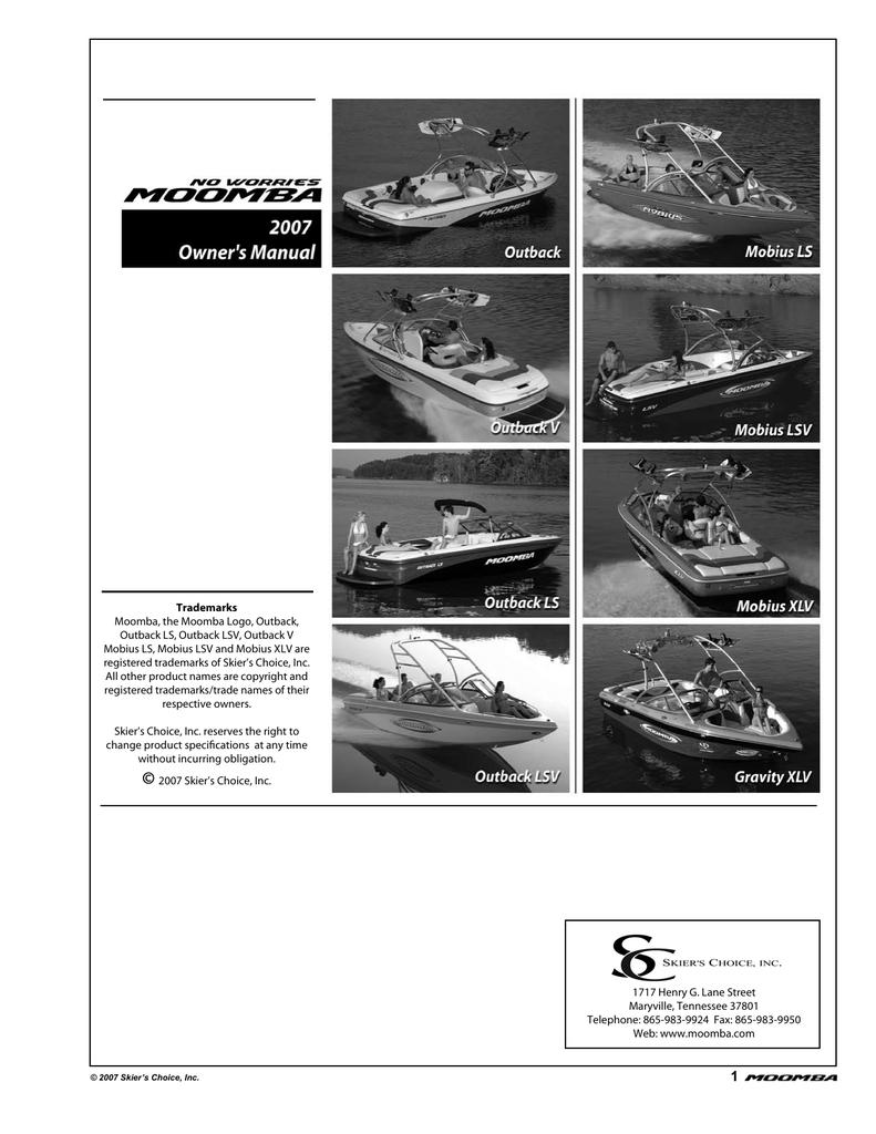 Moomba Manual 2007