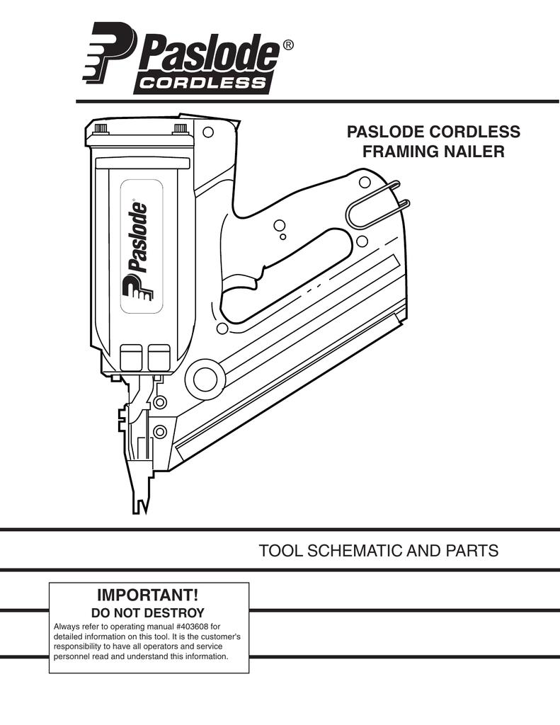 Paslode - IM350 - 1st Fix Cordless Nail Gun | manualzz.com