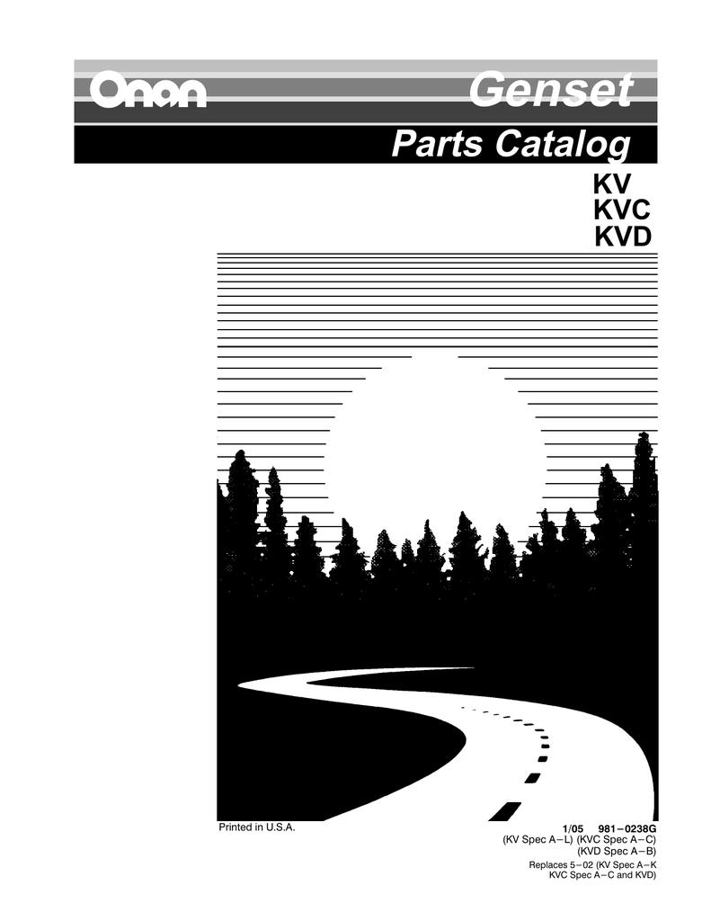 Onan KV genset parts catalog | manualzz.com Onan Kv Generator Wiring Diagram on