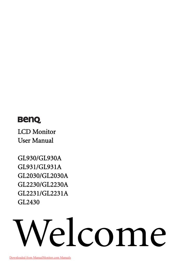 DRIVERS BENQ GL931