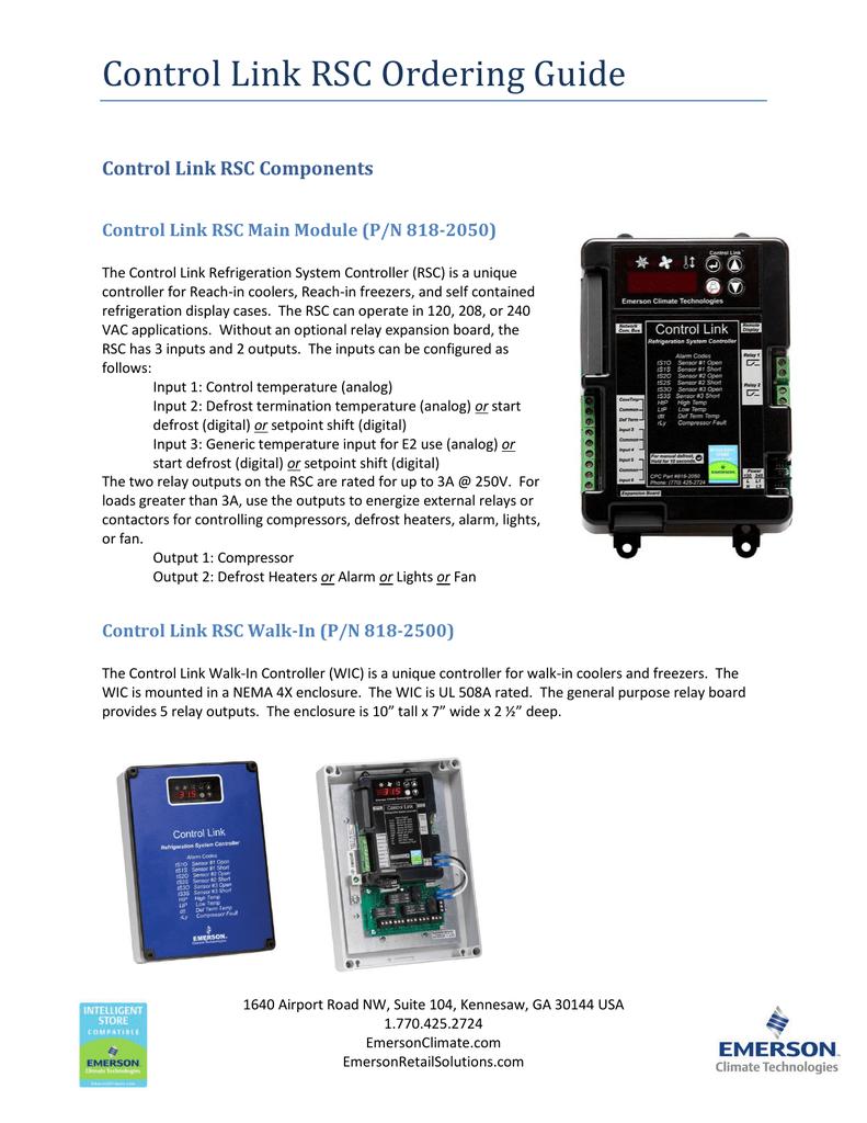 Ordering guide for Control Link RSC   manualzz com