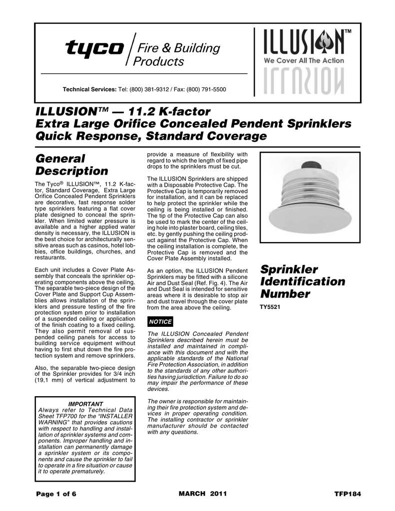 Illusion (QR SR) Concealed Standard Coverage Pendent