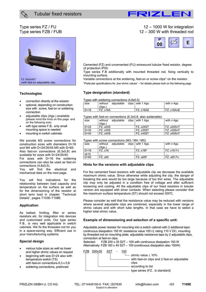datasheet for FU 100x35 S2T | manualzz com