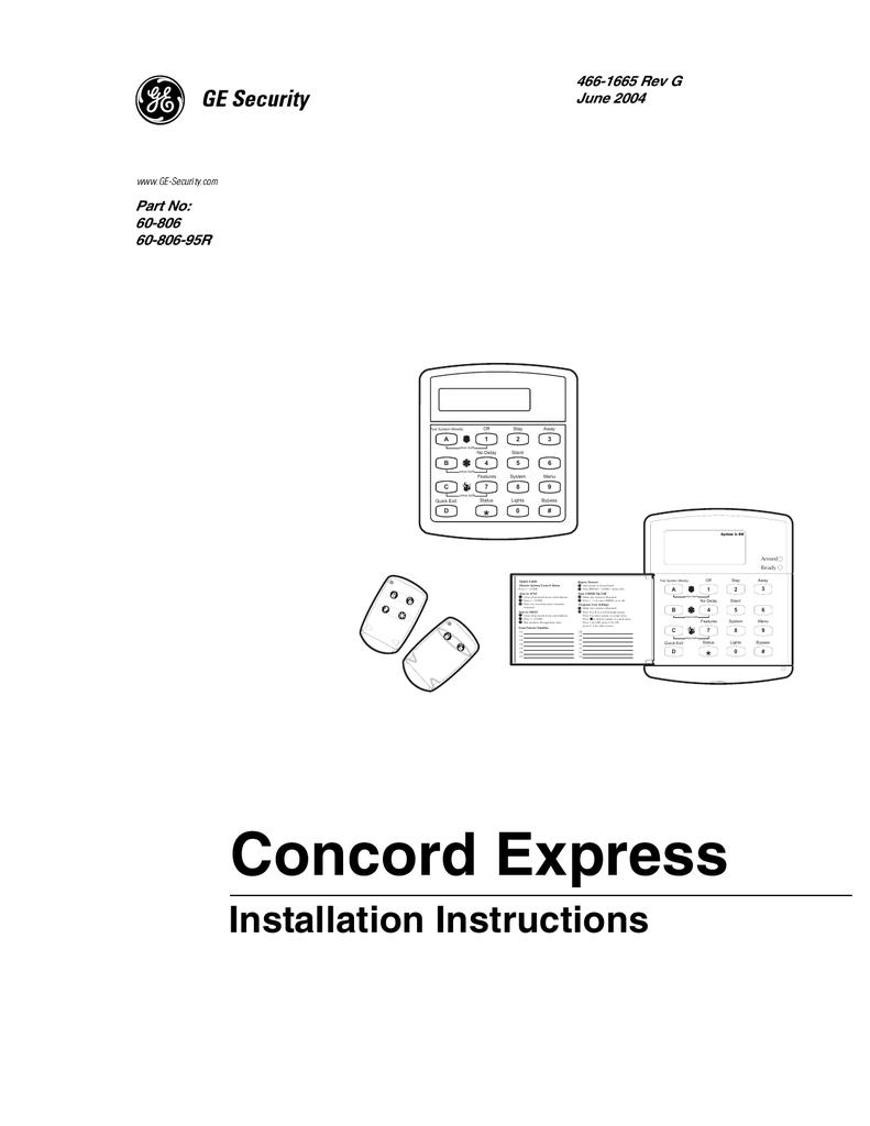 Concord Express Installation Manual rev G | manualzz.com