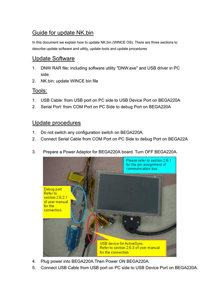 Bega220A-Guide_for_update_OS | manualzz com
