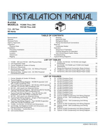 Iom York Taurus Ducted Splits Manualzz, York Wiring Diagrams