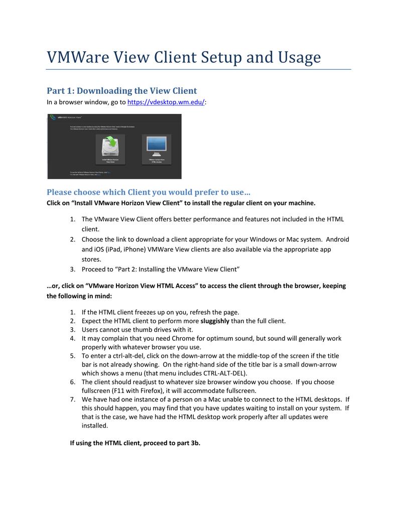 Instructions for installing the Virtual Desktop | manualzz com
